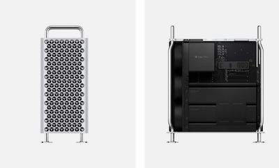 2019 mac pro side front view