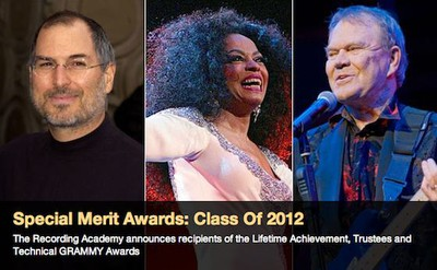 steve jobs diana ross glen campbell grammy