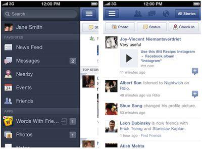 facebook iphone 4 0