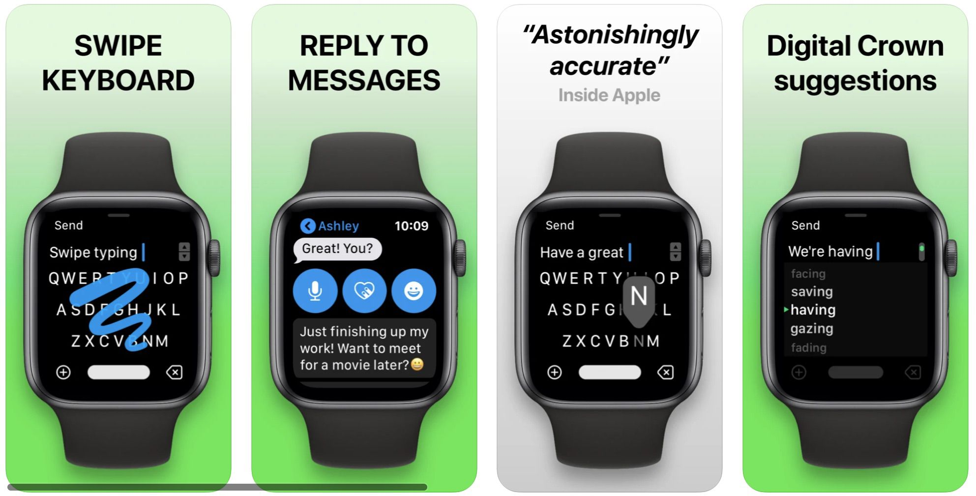 FlickType founder Kosta Eleftheriou, who has been vocal about scam apps on several occasions, today announced that his app FlickType Watch Keyboard wi