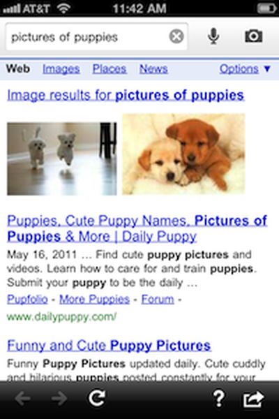 google search results old1