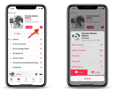 how to use love dislike buttons apple music 2