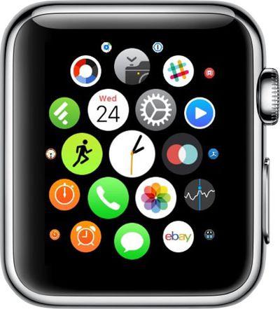 Home Screen on Apple Watch