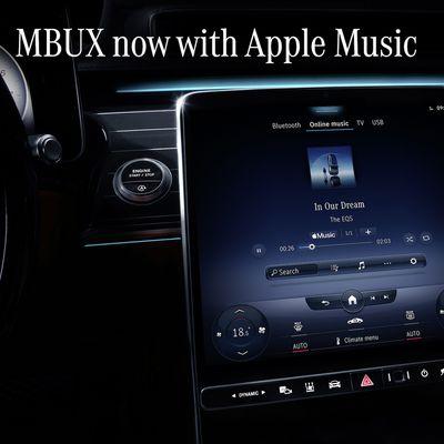 mercedes mbux apple music