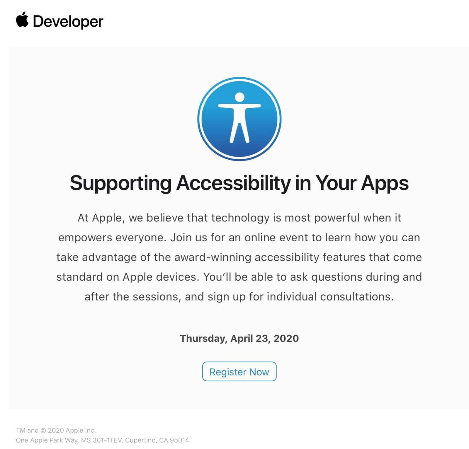 Ahead Of Wwdc Apple Invites Some Developers To Attend Virtual Accessibility Session Macrumors