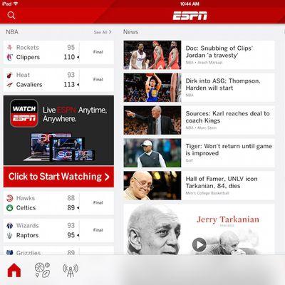ESPN iPad