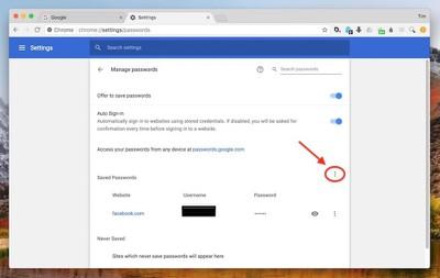 4 export passwords chrome