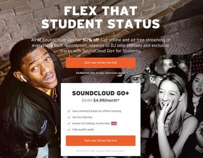 soundcloud go plus students