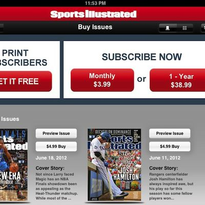 sports illustrated ipad subscriptions