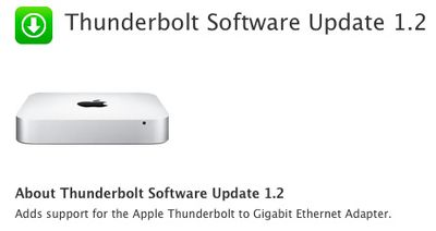 thunderbolt software update 1 2