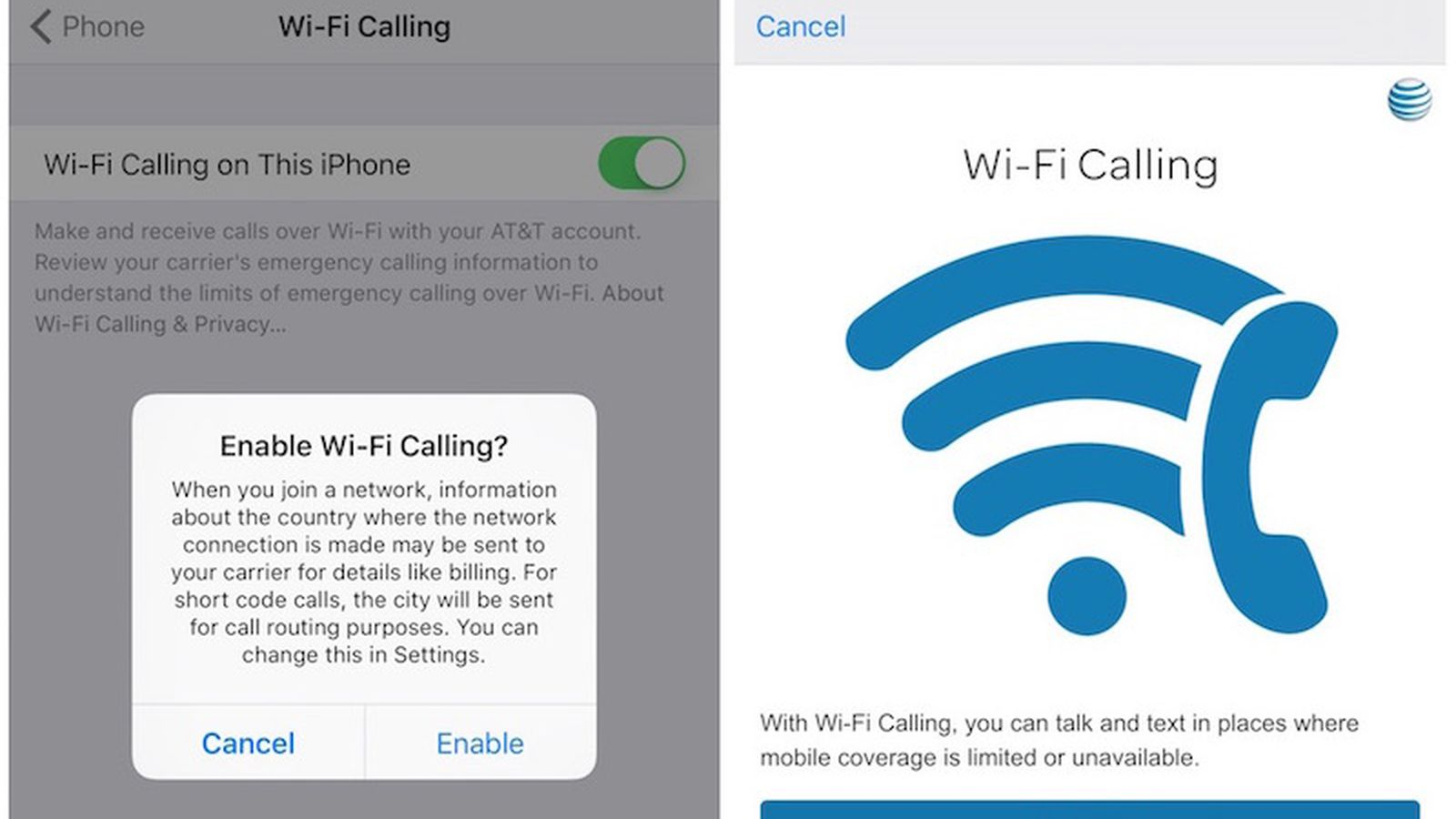 Wi Fi Calling Now Available For At T Users Macrumors