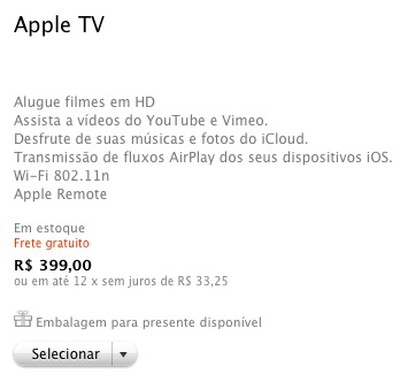 apple tv brazil