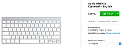 Apple Wireless Keyboard 1 to 2 Weeks
