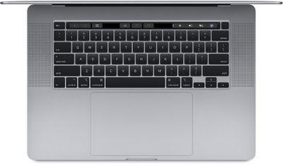 16 inch macbook pro top down