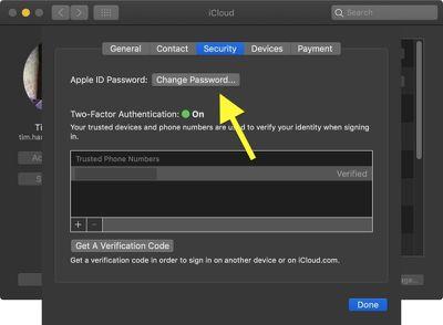 how to change apple id password on mac 3