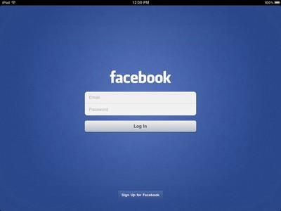 facebookloginipad