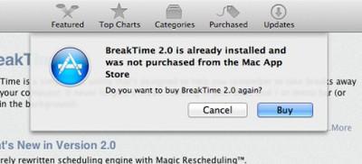 mac app store rebuy warning