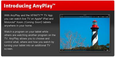 comcast introducing anyplay