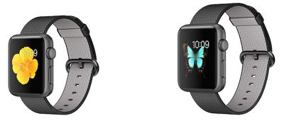apple watch sport black nylon