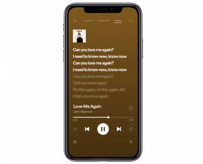 spotify live lyrics