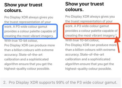 p3 wide color change