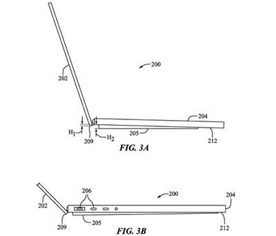 macbook pro distributable feet patent raised base