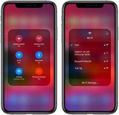 iOS 13 Wi-fi Options