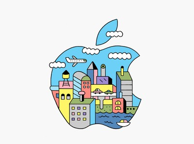 apple event logo city