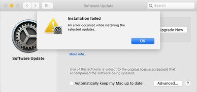 an error occured screenshot
