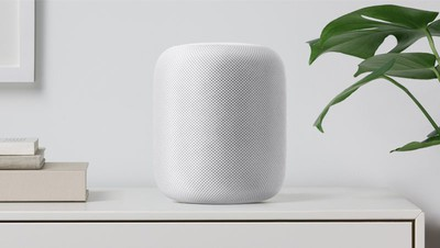 HomePod on shelf