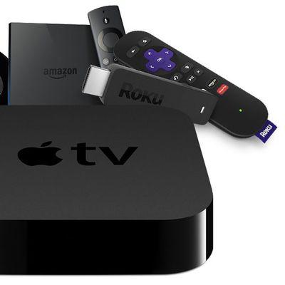 apple tv vs roku chromecast fire tv