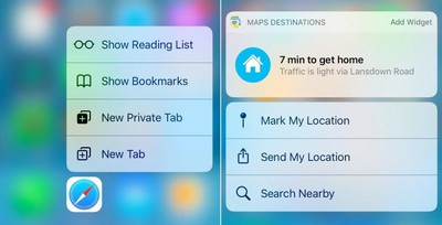 safari-maps 3D Touch