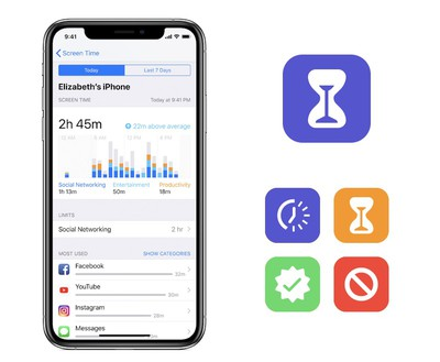 apple screen time screen icons