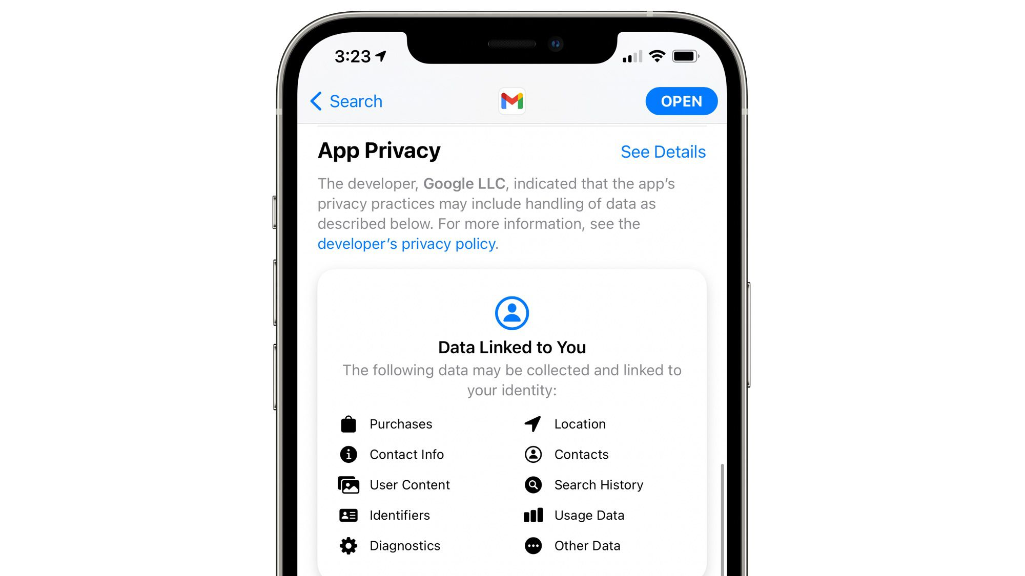 Google Finally Adds App Privacy Labels to Gmail App