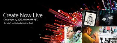 adobe create now live banner