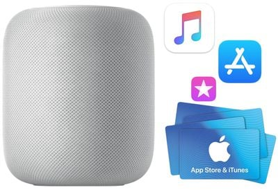 homepod and itunes gift cards