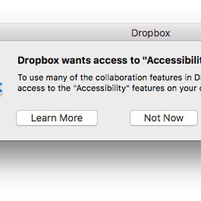 dropbox accessibility permission
