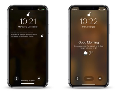 how to wake up to a weather forecast on your iphone lock screen