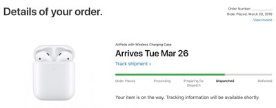 airpods shipping date
