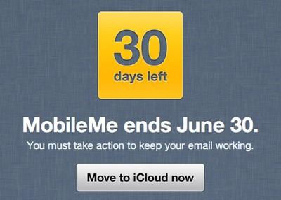 mobileme shutdown 30 move