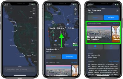 1using apple maps guides ios