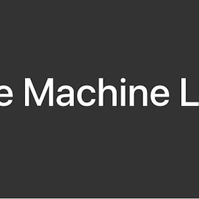 apple machine learning journal