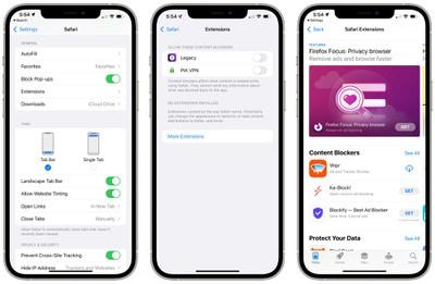 iOS 15 Safari Extensions