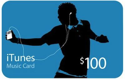 itunes music card 100