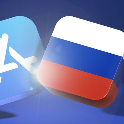 app store blue banner russia