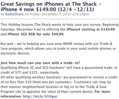 163941 radioshack iphone sale