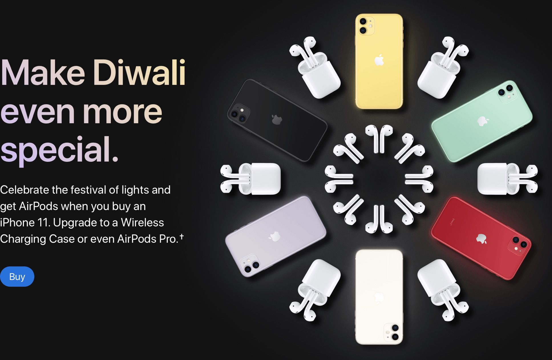 photo of Apple Offering Free AirPods With iPhone 11 Purchase in India as Part of Diwali Celebration image