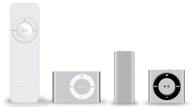 ipod shuffle generations