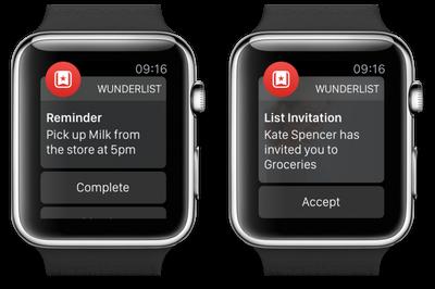 Wunderlist Apple Watch Views
