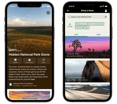 national parks maps app store